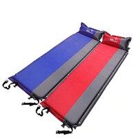 Almofada de dormir à prova de umidade com travesseiro auto que infla almofada de dormir para barraca de acampamento caminhadas mochila colchão de ar inflável