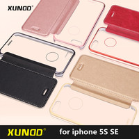 Xundd Brand Luxury Ultra Thin Pu Flip Cover Case For IPhone SE 5 5S Case 4