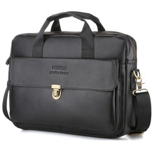 Men Vintage Classic Briefcase High Quality Genuine Leather Laptop HandBags Retro Cowskin Business Crossbody Bag Satchel