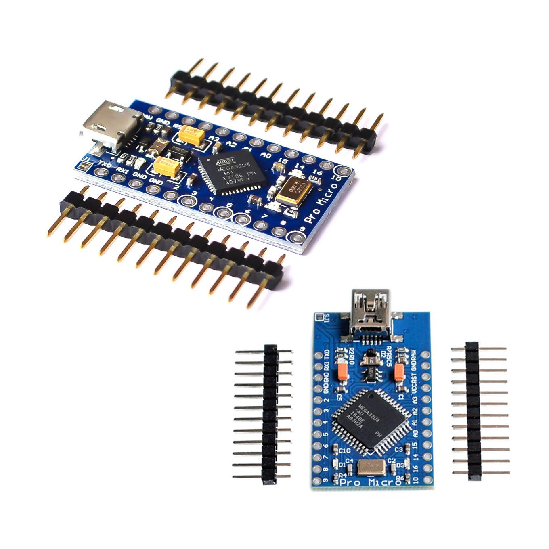 Pro Micro ATmega32U4 5V//16MHz Module with Pin Header for Arduino Leonardo