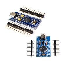 新プロマイクロarduinoのATmega32U4 5v/16 433mhzのモジュールでレオナルドのために2列ピンヘッダーとstock. 最高品質