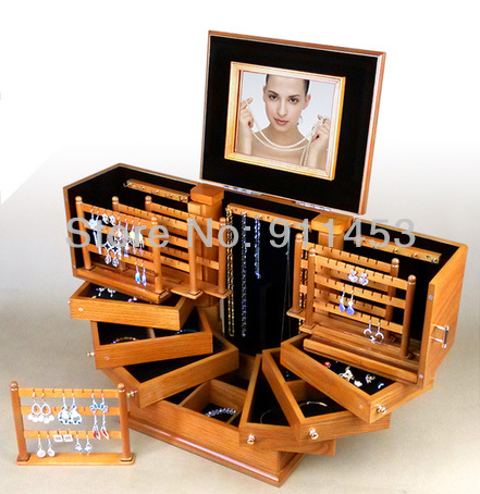 Luxury Wooden princess fashion hugesuper large jewelry accessories