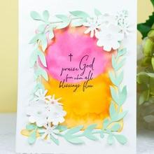 DiyArts Dies Cutting Flower Frame Garden Garland Metal 8pcs Stencil for DIY Scrapbooking Decorative Craft Paper Cards Making New