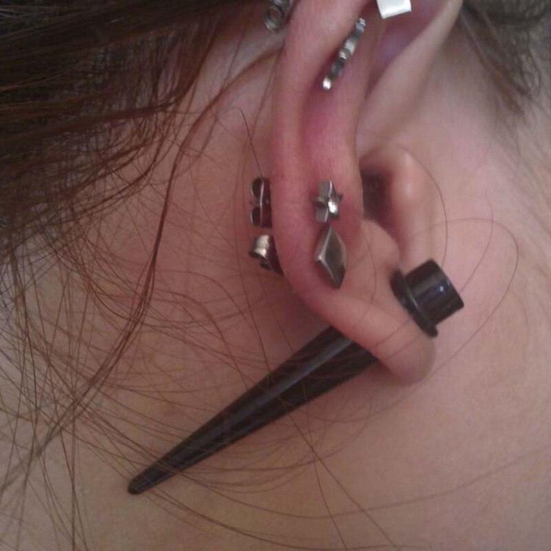 1 x ACRYLIC EAR FLESH STRETCHER PLUG WITH O RINGS