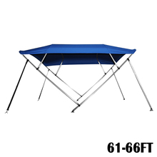"Mayitr 61-66ft Boat Cover 4 Bow 54"" High 8"" L x 61""-66"" W Rear Poles Navy Blue outdoor tool"