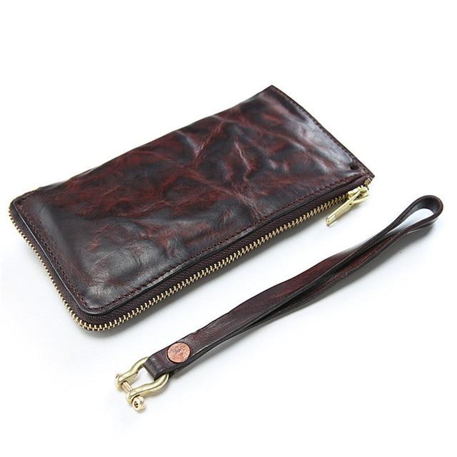 Genuine Leather Long Clutch Women Purse
