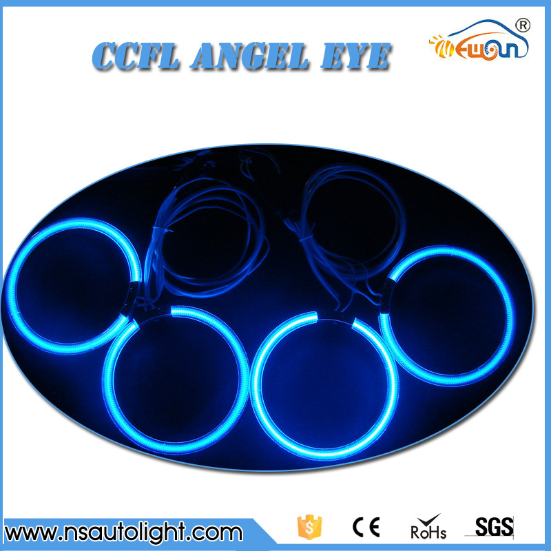 4 pcs 120mm ccfl rings angel eye kit for BMW E30 E32 E34 with invertes ballast White/Blue/Green/Yellow/Rlue/Purple 13a 2inch h4 bixenon hid projector lens motorcycle headlight yellow blue red white green ccfl angel eye 1 pc slim ballast