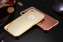 Роскошные Зеркало Case Для iPhone 6 Случаях 5S 5 6 6 S Плюс Case Мягкие TPU Телефон Случаях Для iPhone 7 7 Plus Задняя Крышка