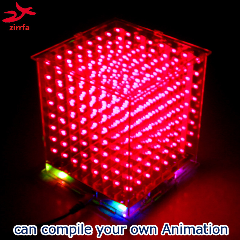 Image 5 - zirrfa New 3D8 mini led cubeeds with excellent animations /3D display 8 8x8x8 ,fun Electronic DIY Kit-in Integrated Circuits from Electronic Components & Supplies