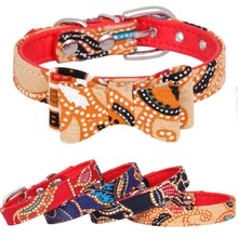 Cute Cotton Padded PU litchi Veins Cat Dog Collar Bowknot Puppy Collars for Small Medium Dogs Neck Strap XS/S/M/L Dropshipping shiny glitter bling powder dog cat collar pu leather puppy collars for small medium dog neck strap adjustable collar xs s m l