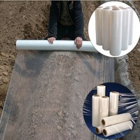 Freeshipping White Agricultural Shade Plastic Mulch Film 1x1000M PE Film Garden Greenhouse 0.4s Thickness Vegetables Cover