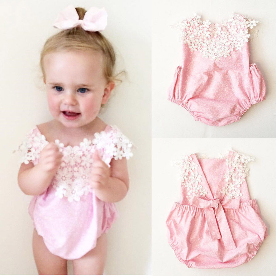 Lace Infant Baby Girls Sleeveless Romper Jumpsuit Toddler Summer Clothes bodysuit baby girl clothes Outfit цена и фото