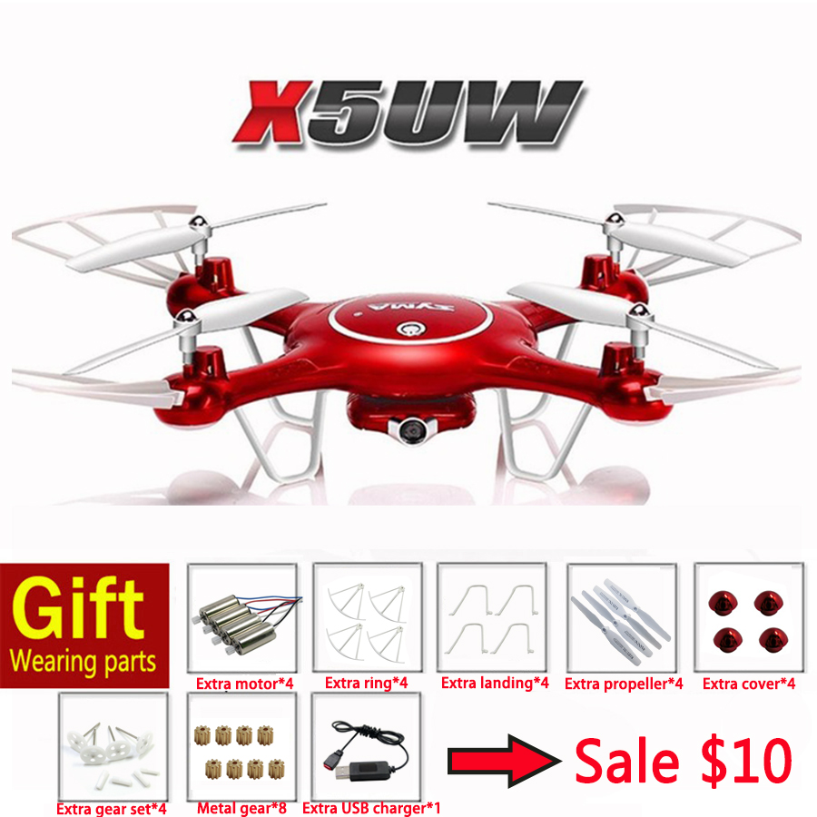 100% Original SYMA X5UW RC Drone With HD Wifi Camera 2.4G 4CH 6Axis RC Quadcopter Selfie Helicopter RTF Toys x5c syma drone explorers 2 4g 4ch rc airplane 4ch rc quadcopter with hd camera lcd drone rtf 2g with light