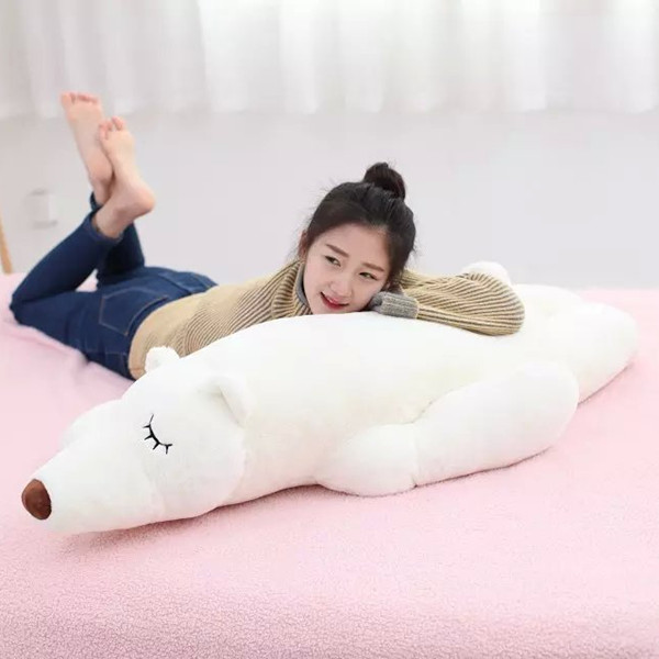 white polar bear about 80 cm prone bear plush toy , birthday gift   x141 | Stuffed & Plush Animals