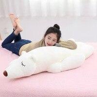 white polar bear about 80 cm prone bear plush toy , birthday gift x141