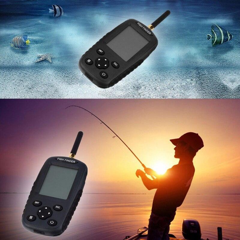 Détecteur de poisson FF998 Sonar Rechargeable plus récent détecteur de poisson Portable intelligent sans fil 125 KHz Sonar capteur sans fil sondeur