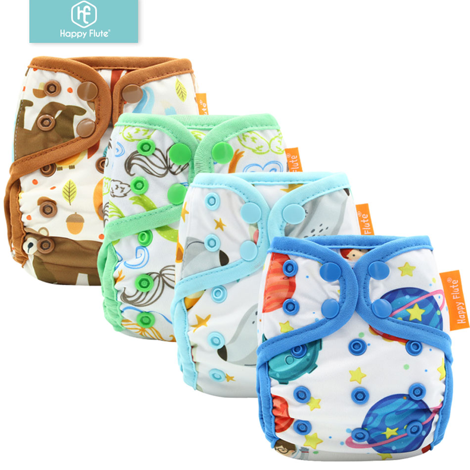 10pcs Happyflute NewbornDiaperCover,Tiny Diaper Cover, Snap Or Hook&loop Cloth Diaper Cover Colorful Binding