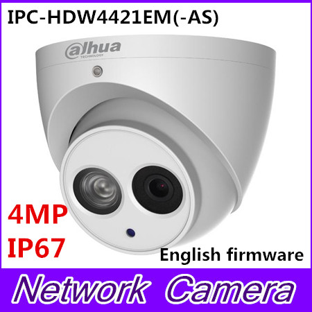 Free shipping Dahua 4MP Mini Dome IP Camera True WDR POE CCTV Camera IPC HDW4421EM AS