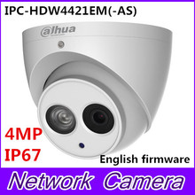 Free shipping Dahua 4MP Mini Dome IP Camera, True WDR POE CCTV Camera, IPC-HDW4421EM(-AS)