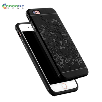 5S 5 SE Luxury Silicon Case for iPhone 6 6s 7 Plus COCOSE Anti-knock Phone Back Cover 3D Coque for iphone 6 iphone 6s plus 6Plus iphone 6
