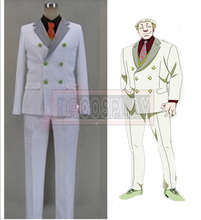 Free Shipping Tokyo Ghoul Yakumo Oomori Yamori Cosplay Costume Men s White Suit