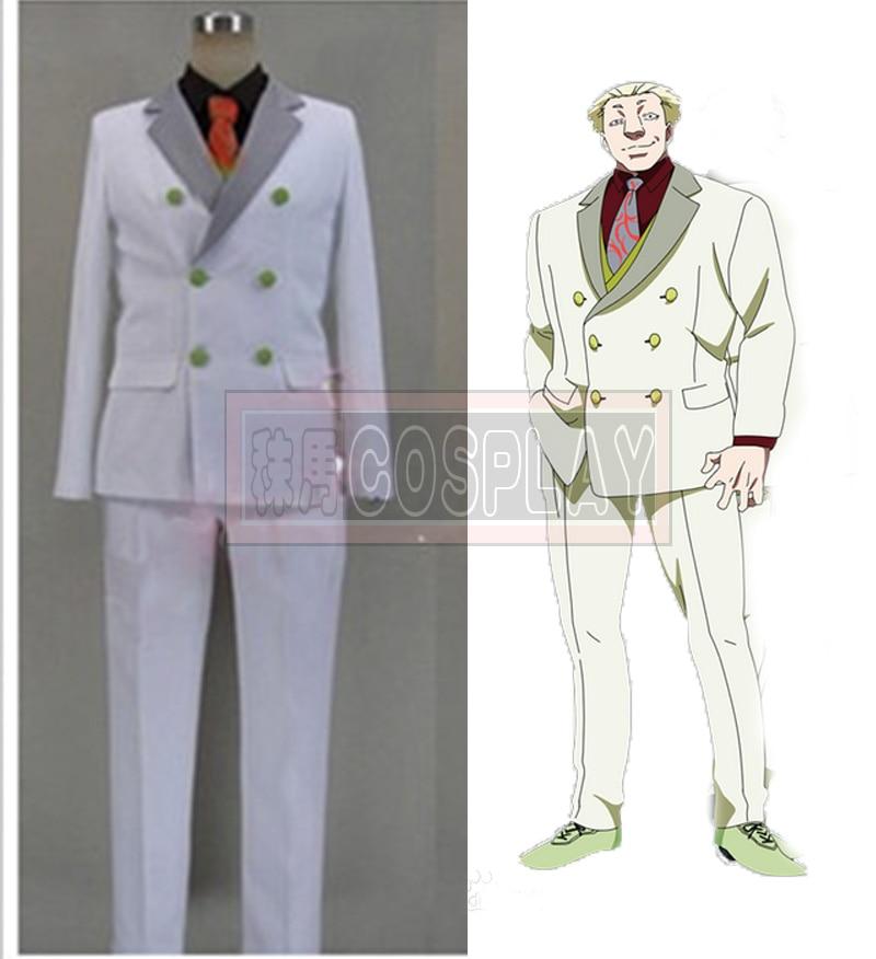 Free Shipping Tokyo Ghoul Yakumo Oomori Yamori Cosplay Costume Men s White font b Suit b