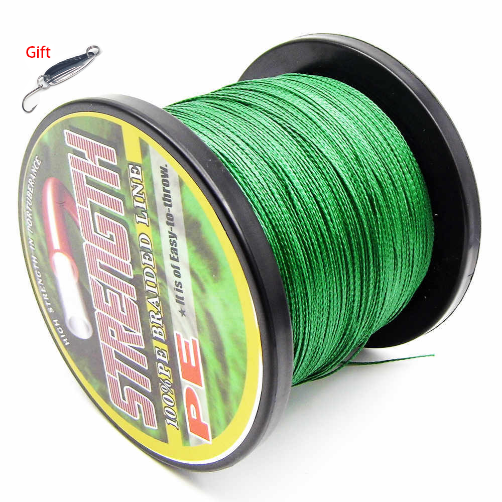 Lure as gift 1000m 8 stands multifilament pe braided for 20 lb braided fishing line