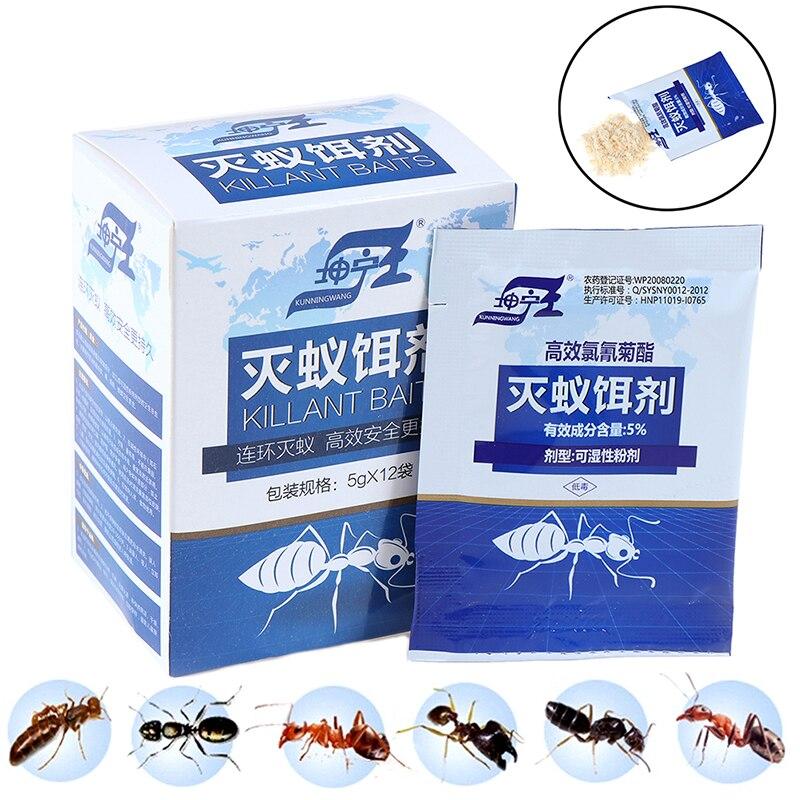 12pcs/lot Ant Killing Powder Bait Ants Repellent Repeller Trap Killer Pest Control Destroy Ant Colony Poison Kill Baits