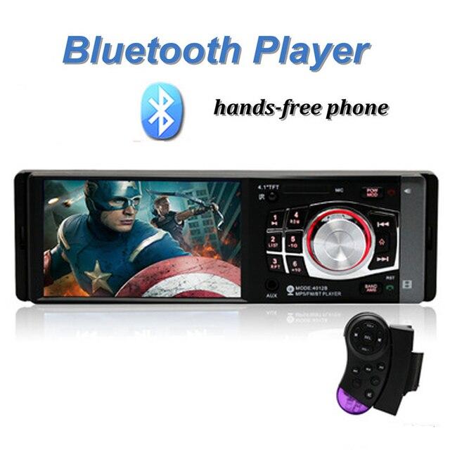 Автомобильный Радиоприемник MP5 Стерео Плеер 4.1 Дюймов Bluetooth Телефон AUX-IN MP3 Выходная Мощность FM/USB/1 Din/Дистанционного Управления 12 В Стерео FM ради