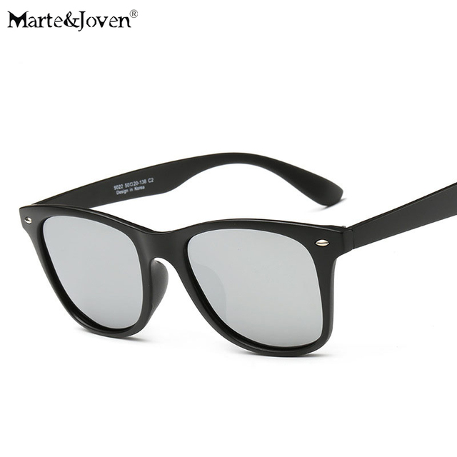 696c9a23e3  Marte Joven  Classic Retro Women Men Matte Black Frame Polarized Oval Sunglasses  Driver s Mirror Coating Points Driving Eyewear