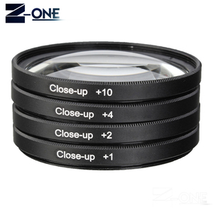 Image 4 - 49 52 55 58 62 67 72 77 MM Macro Close up Filter +1+2+4+10 Set+ UV CPL FLD +ND2 4 8 Camera Lens Filter+Hood for Canon Nikon Sony