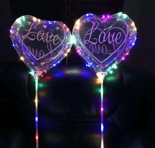 5 шт./лот 18 дюймов сердце ясно гелий Шарики принтом Love одежда для свадьбы, дня рождения декор воздуха детские надувные Душ Подарки Поставки