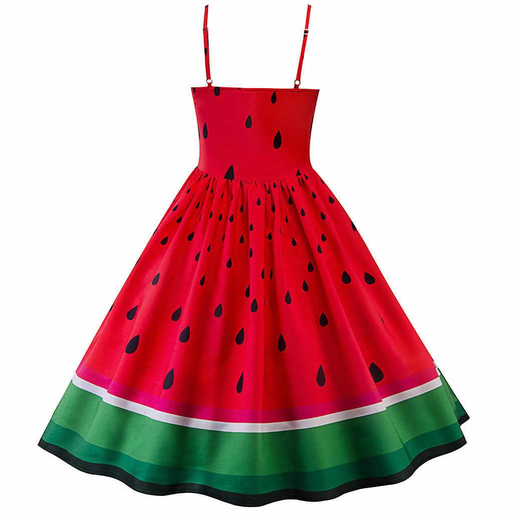 2019 新ファッション女性ドレススイカプリントパーティーセクシーなドレスカクテルウエディング夜会服ファンタジー優雅なドレスファッション無印良品 Vestido