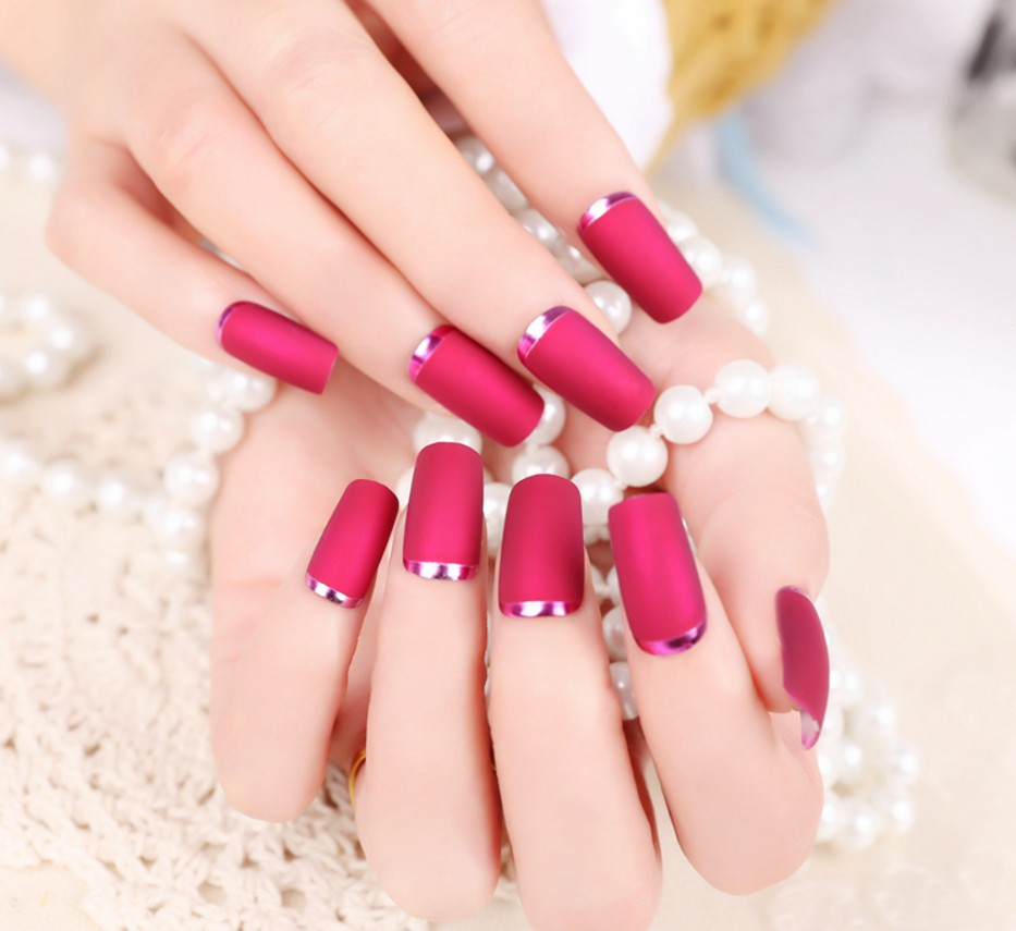 Fashion Matte False Nails Tips Sexy Fake Nail Artificial Press On For Women New