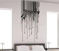 Full Color Wall Vinyl Sticker Decals Decor Art Bedroom Design Mural Horse Drippy Zebra Poster Animal Removable 2017 fashion