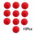 4.5 cm Bola de Esponja Mágica 10 pçs/lote Close-Up Da Marca de alta qualidade de Moda de Nova Rua Truque Comédia Clássica Suave Bola Esponja vermelha