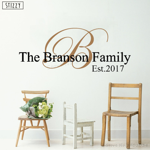 stizzy wall decal family personalized name vinyl wall stickers