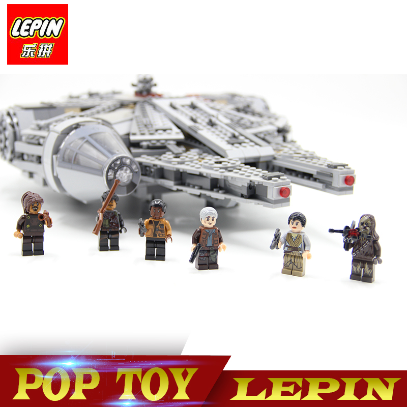 LEPIN 05007 New Star Wars Millennium Falcon Toys Educational building blocks marvel Kids Toy Compatible legoed  10467  star wars bb8 droid 3d bulbing light toys new 7 color changing visual illusion led decor lamp darth vader millennium falcon toy