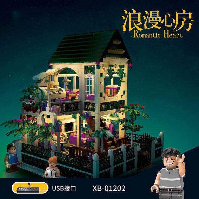 DHL XB01202 Building Blocks Series The Romantic Heart House Set Building Blocks Bricks Kids Toys Model