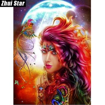 "Zhui Star Full Square Drill 5D DIY Diamond Painting ""fairy"" handmade 3D Embroidery arts Cross Stitch Mosaic Decor gift"