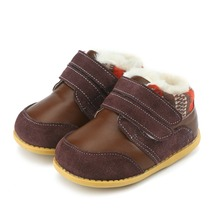 Tipsie Toes Childrens Boys Shoes Autumn And Winter 2018children Korean Version Of Martin Boots Leather Fashion Snowankle