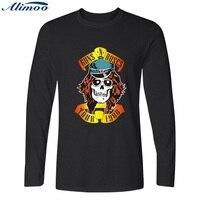 Rock Band Guns N Roses Men T Shirt Long Sleeve Punk T Shirts And Hip Hop