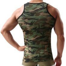 Military Style Men Vest Camouflage Tank Top
