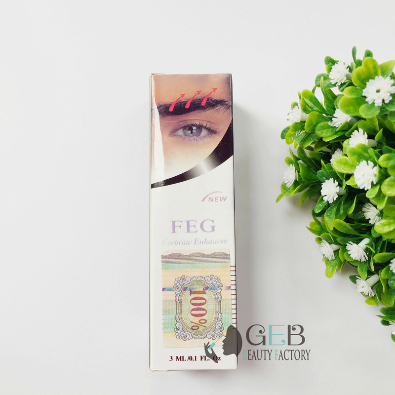 100 Original FEG eyebrow enhancer serum eyebrow enhancement solution eyebrow growth pencil 3ml eyebrow grower