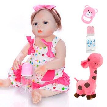 Bebe boneca reborn silicone completa realista Girl doll 23inch 57cm waterproof reborn toddler dolls toys gift