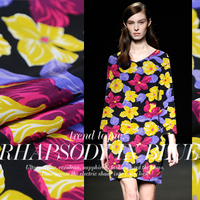 LEO LINIreland Took Over The United States Super Chic Color Crepe De Chine Silk Fabric Dyeing