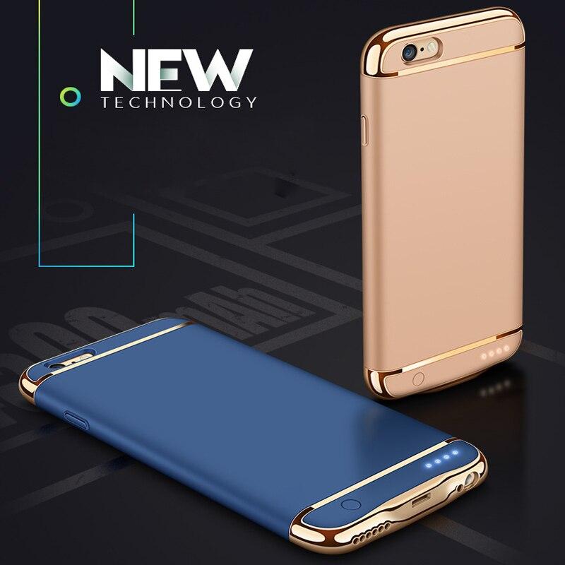 imágenes para Powerbank Para el iphone 6 6 s plus Ultra Delgada de carga rápida Banco de la energía Caja de batería para el iphone 7 más Casos de Carga Inalámbrica