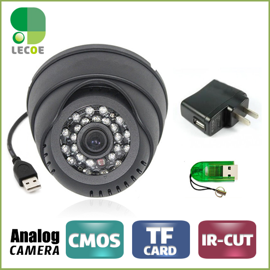 CCTV  Dome Camera with 16G TF Card  IR Night Vision Motion Detection CCTV DVR Loop Recorder Security Camera USB top quality 800tvl ir night vision waterproof cctv camera with16 channel motion detect camera recorder dvr support h 264 ptz