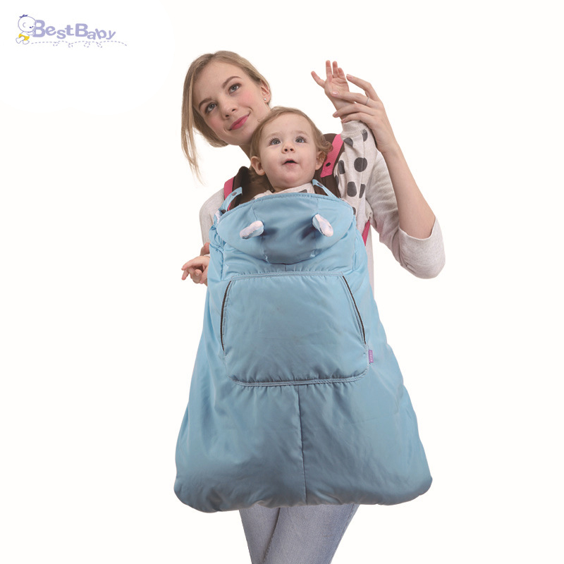 BEST BABY 0-36 Months Baby Carrier Cloak Windproof Waterproof Universal Baby Carrier Cover Soft Infant <font><b>Blanket</b></font> Hooded Cloak