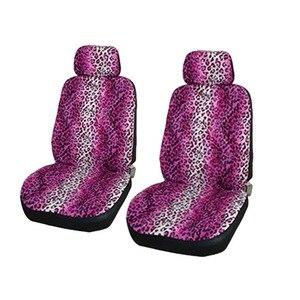 Image 4 - אוניברסלי רכב מושב כיסוי חורף סתיו אדום הדפס מנומר חם קצר בפלאש חמוד מקסים נקבה מכסה עבור ביותר 5 מושב